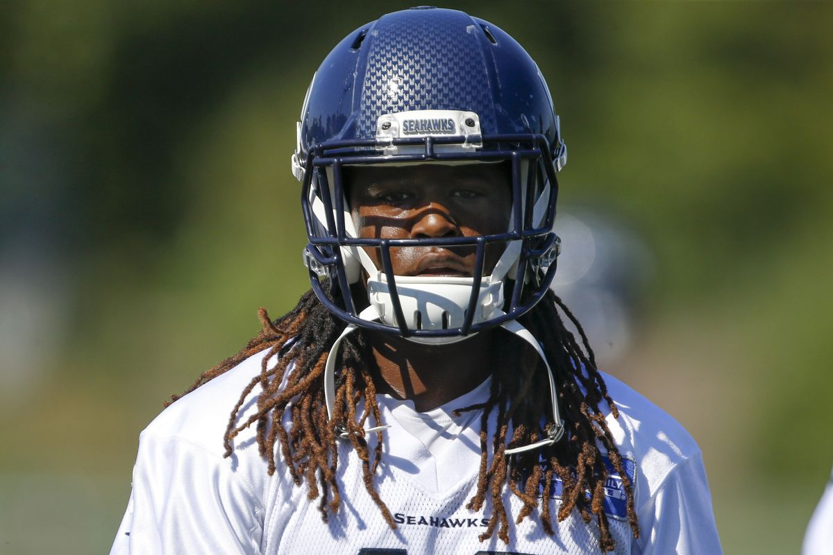 newest 67538 ab4bc Seahawks Training Camp 2018 video: Shaquem Griffin picks off ...
