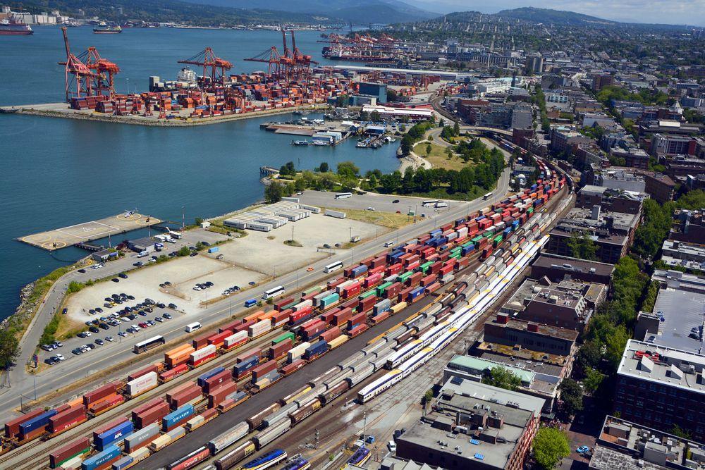 Vancouver's port.