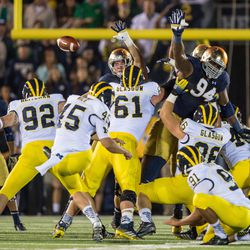 So many silly Michigan things happened in this play that was not a Michigan highlight.