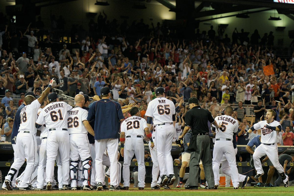 Brian Dozier's walk off home run on July 10 propelled the Twins to victory over Detroit
