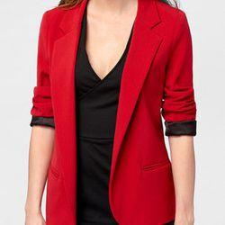 "Boyfriend Blazer, <a href=""http://www.fredflare.com/APPAREL-coats-and-jackets/Red-Hot-Boyfriend-Blazer/"">$68</a>"