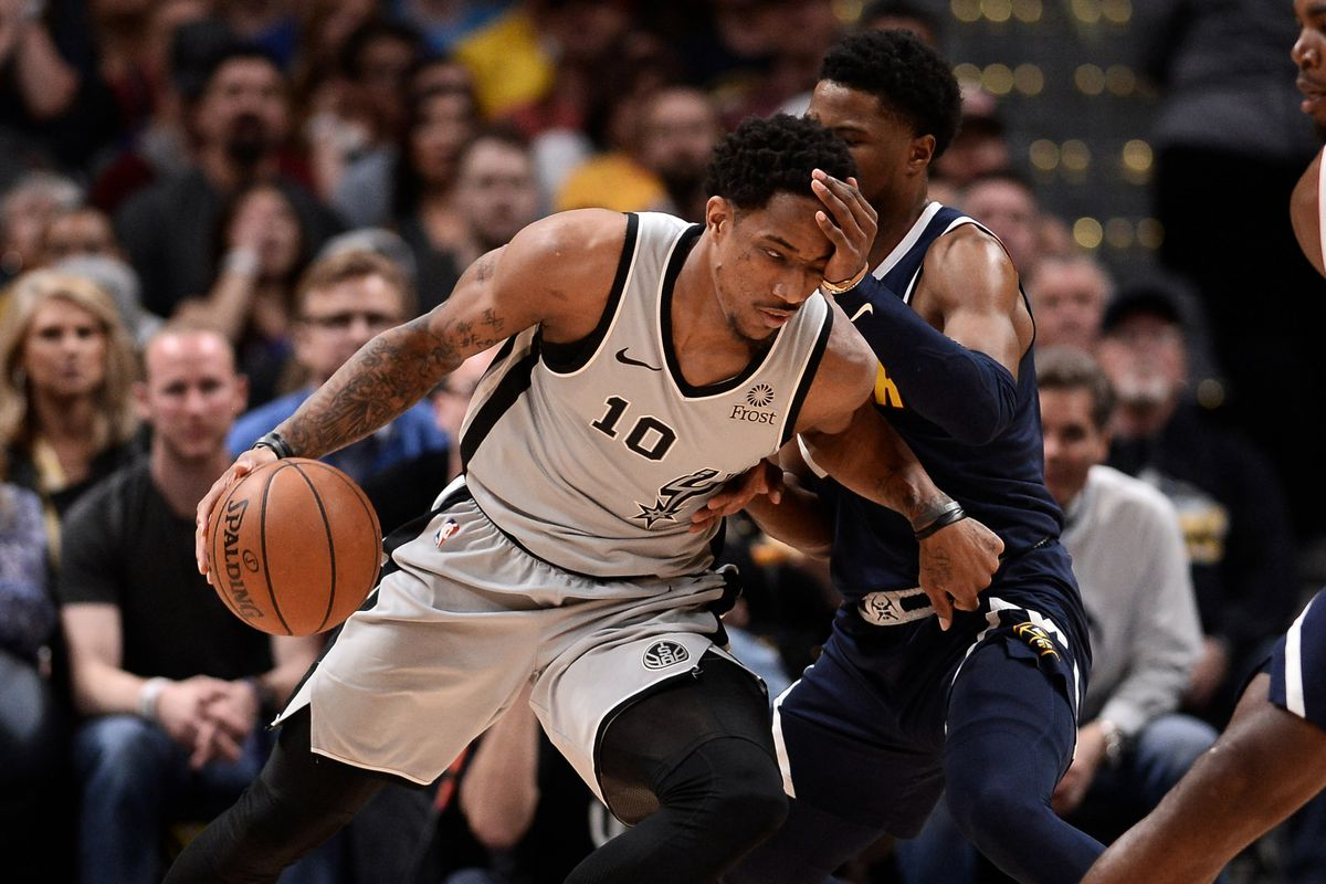 8e992bc6deb 2018-2019 Spurs player reviews: DeMar DeRozan - Pounding The Rock