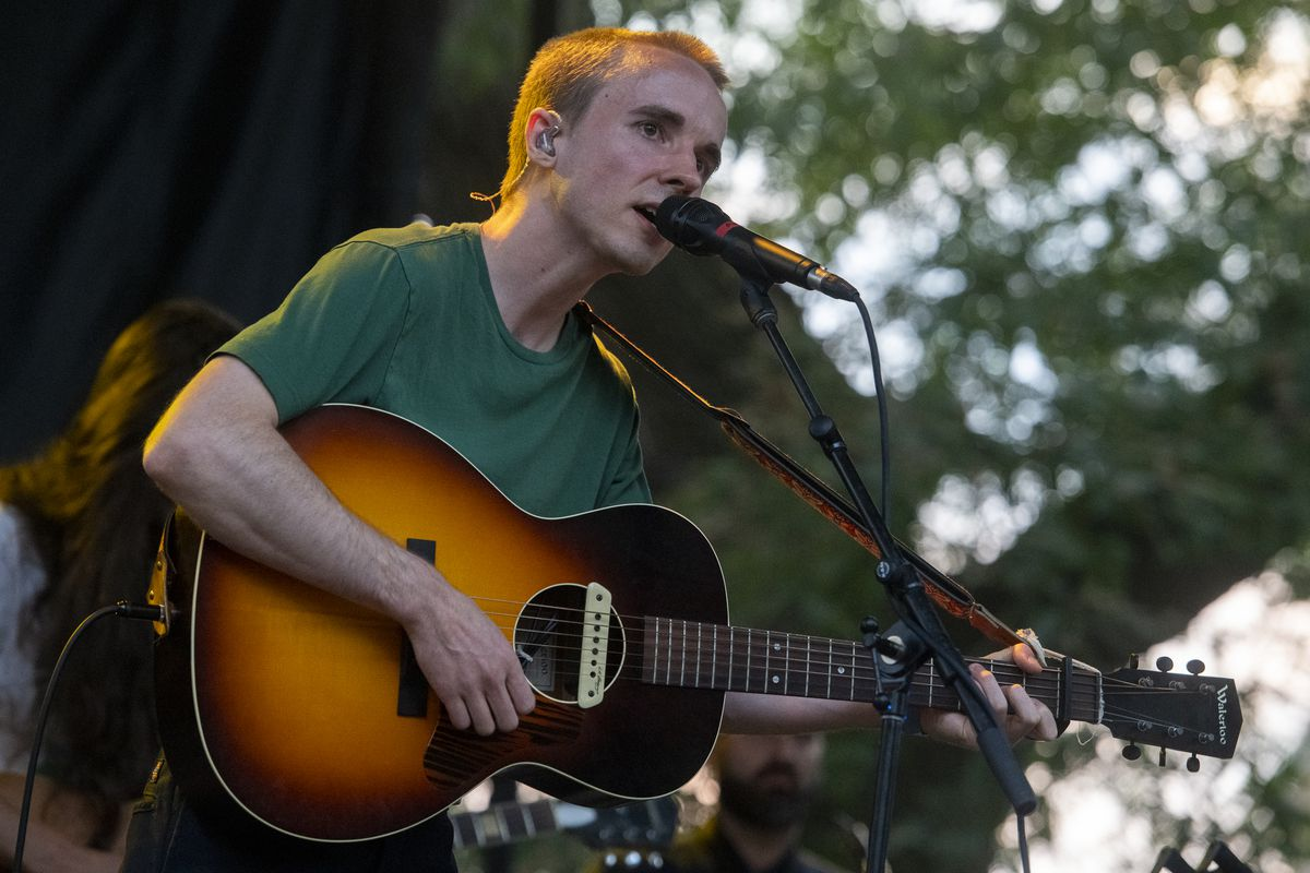 Andy Shauf performs at the Blue Stage at Pitchfork music festival at Union Park, Sunday, Sept. 12, 2021.