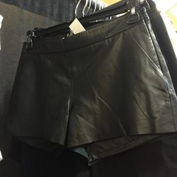 Joie leather shorts, $200