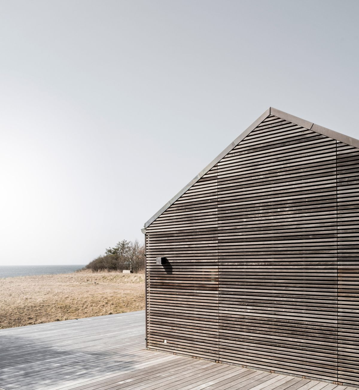 Outside of wooden beach house