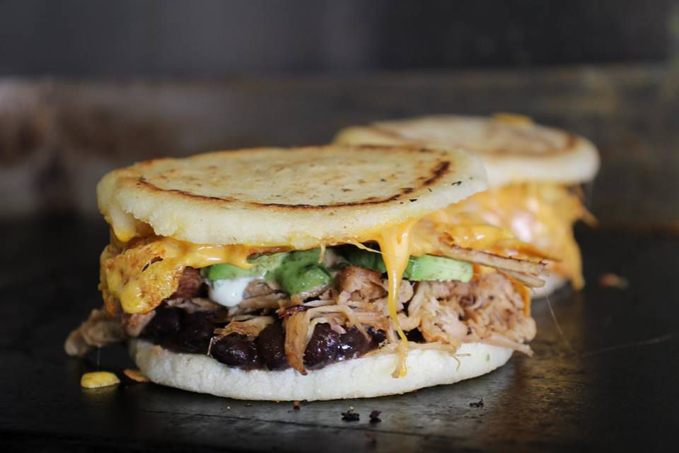 Pork arepa at Four Brothers