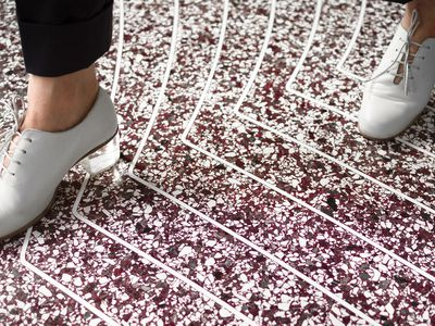 These gorgeous terrazzo floors are custom made with huge 3D printers