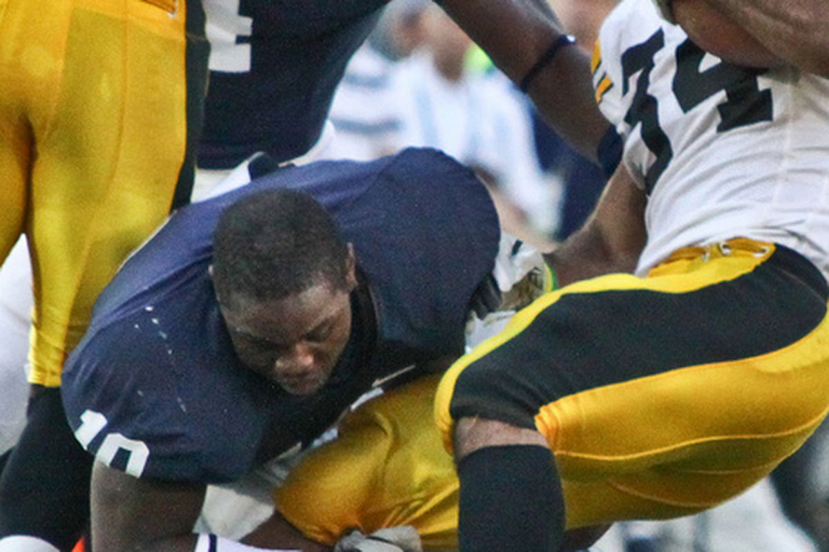 Malcolm Willis doesn't care that his helmet came off--he'll still take down a Hawkeye.