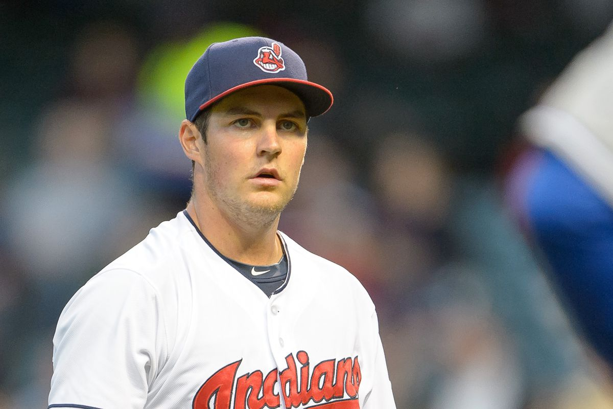 That's not a blank stare, that's a thinking man on the mound in Cleveland