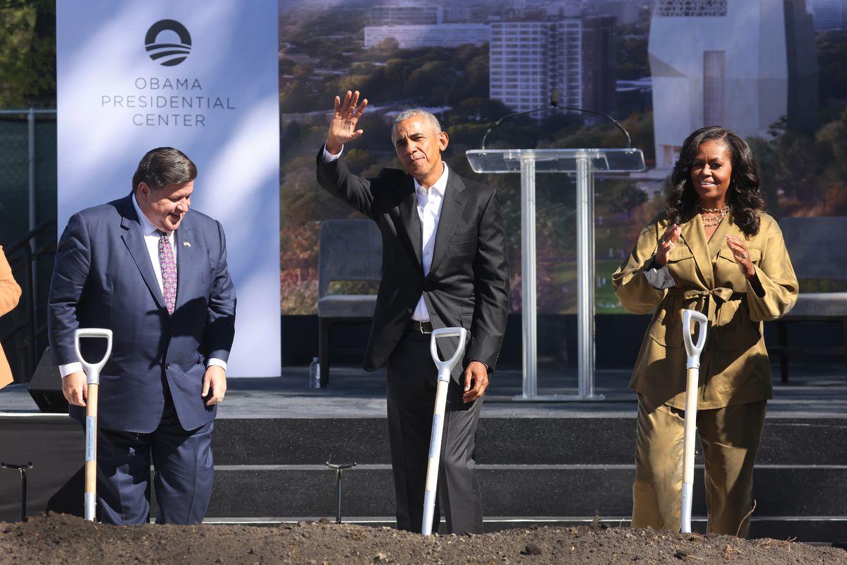 Groundbreaking Held In Chicago For Obama Presidential Center