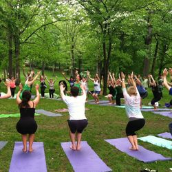 The festival started with an instructional yoga session run by DC yoga instructors, Leti Franchi and Shawn Parrel.
