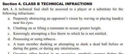 MBB pregame dunk rule