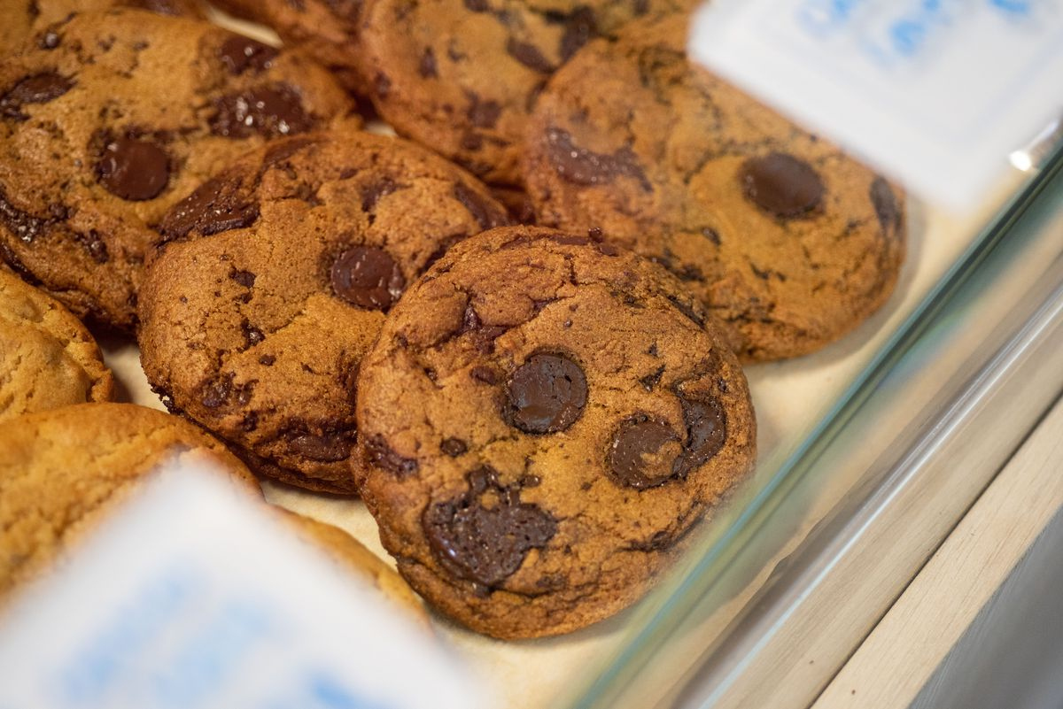 Vegan chocolate chip cookies made by Bakers Bench chef Jennifer Yee.