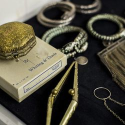 In an unofficial archive, visitors can view a selection of antique Whiting & Davis pieces, including snake bracelets and purses more than a century old.