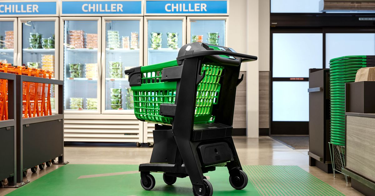 Amazon's new smart shopping cart lets you check out without a cashier