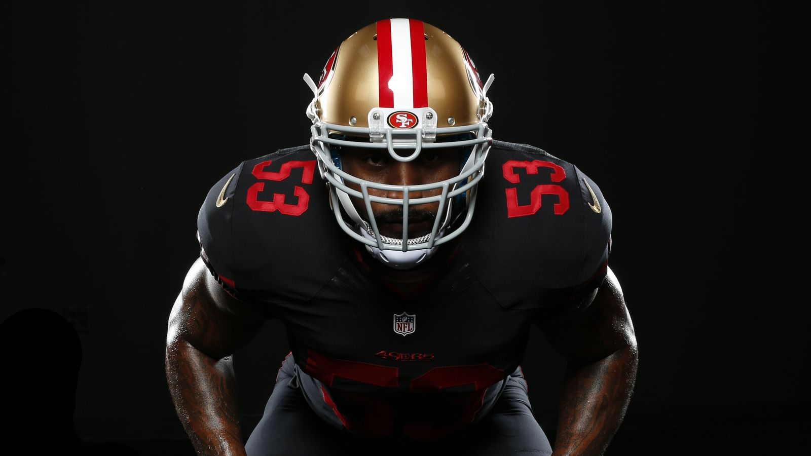 49ers officially unveil black  red and gold alternate