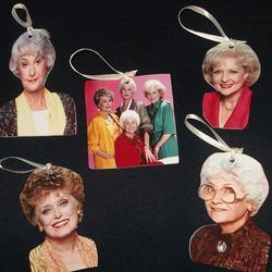 "<em>Golden Girls</em> ornaments from <a href=""http://www.facebook.com/shopnightowldesigns"">Night Owl Designs</a>."
