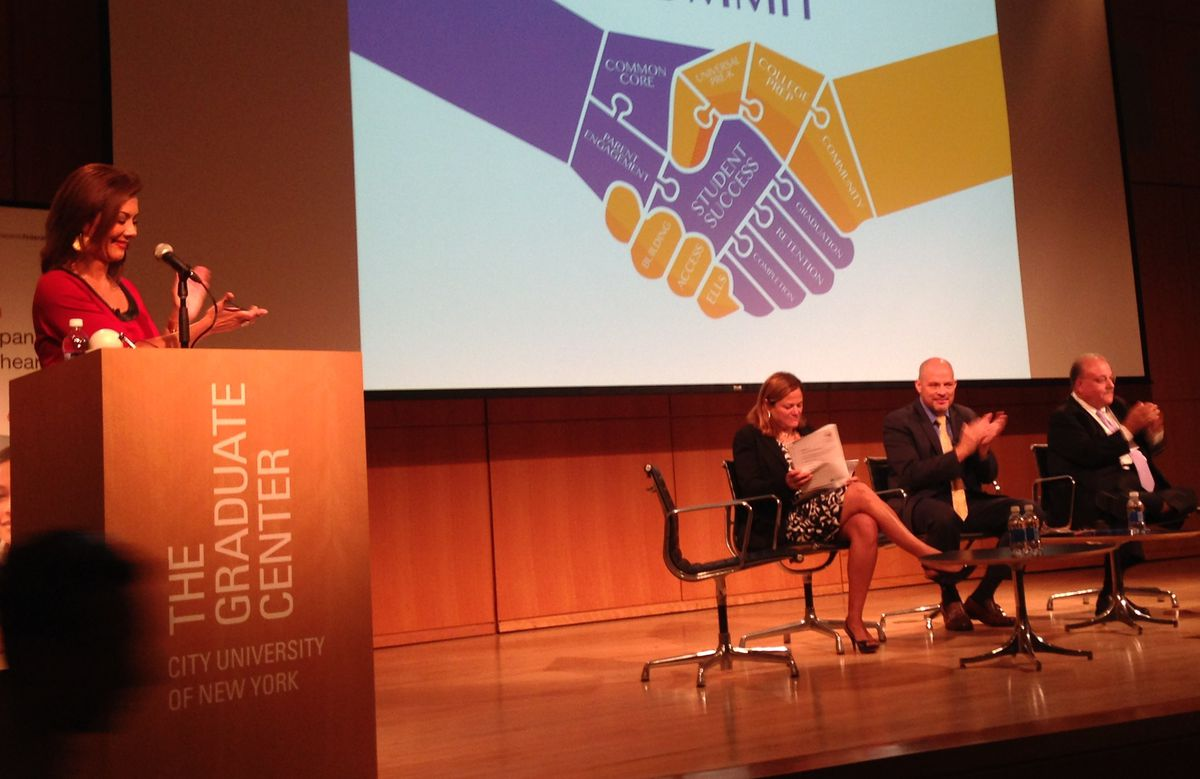 UFT President Michael Mulgrew took part in a panel discussion at a Hispanic Federation event.