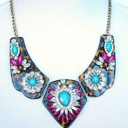 """<strong>Statement necklaces</strong> are big (no pun intended.) """"I'm all about putting together outfits that are quick and easy. The rise of the statement necklace has helped getting dressed in my world tremendously. You can pretty much wear any pair of j"""