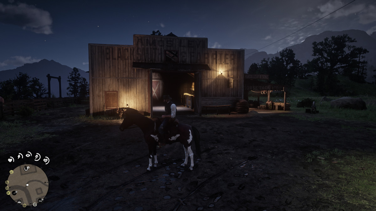Red Dead Redemption 2 - the stables in Valentine
