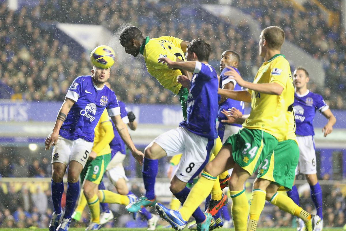 Everton were beaten repeatedly in the air by Norwich last season