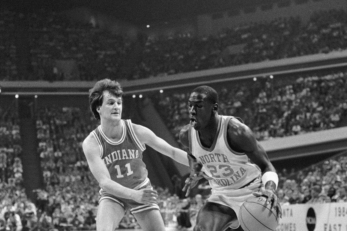 Michael Jordan in College Basketball Action