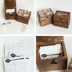 """Even when empty, Rifle Paper Co.'s <a href=""""http://www.scarlettalley.com/catalog/ProductDisplay.cfm?id=387535&cid=396"""">Heirloom Recipe Boxes</a> ($149.95 each at Old City's Scarlett Alley) spruce up bare countertops."""