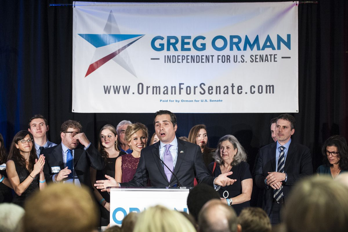 Greg Orman, an independent candidate for US Senate from Kansas, received support form the Mayday PAC but did not win his election.