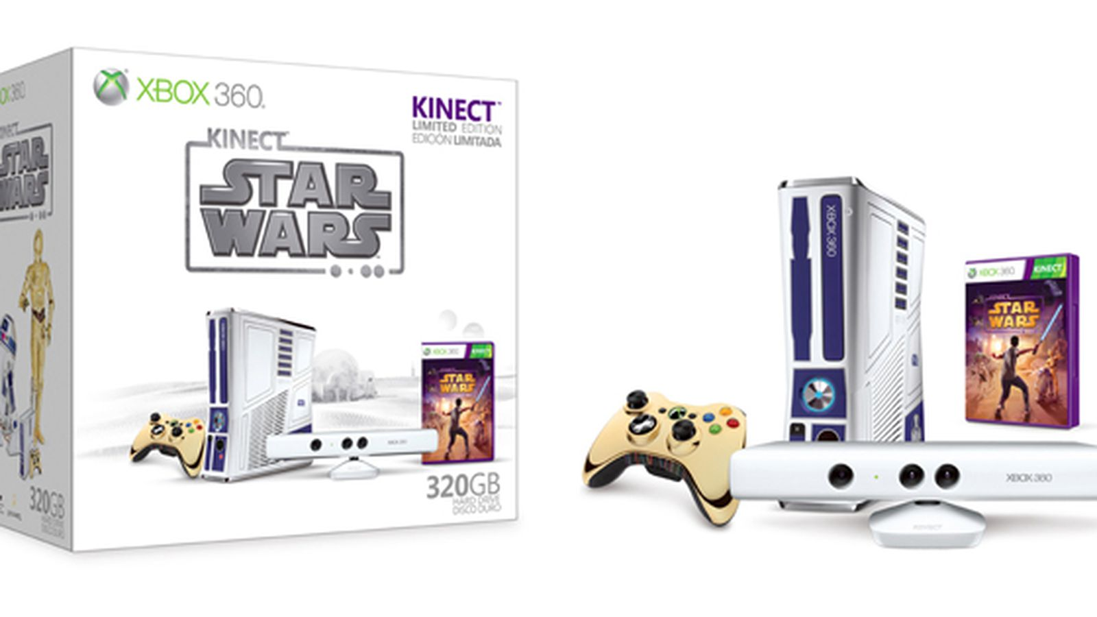 Star Wars Xbox 360 Bundle And Kinect Game Launching April 3rd The Verge