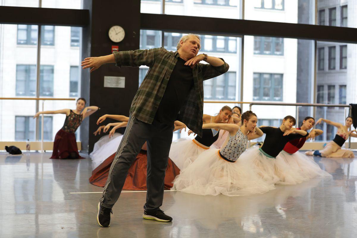 """Yuri Possokhov and the Joffrey Ballet ensemble rehearse """"Anna Karenina."""""""