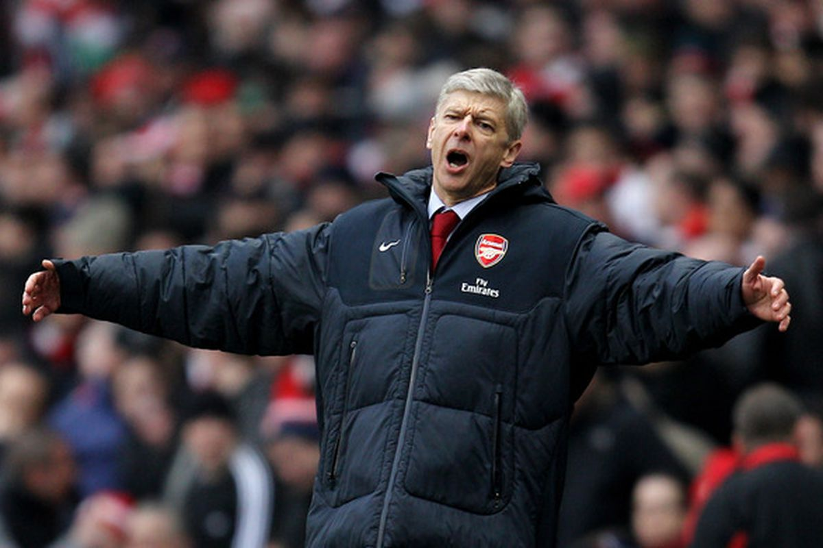 Hopefully a frustrated Arsene Wenger will be a familiar sight on the sidelines tomorrow evening.