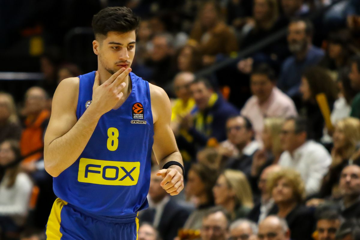 Deni Avdija of Maccabi gestures during the UEFA Europa League football match played between Getafe CF and Ajax at Coliseum Alfonso Perez stadium on February 20, 2020 in Getafe, Spain.