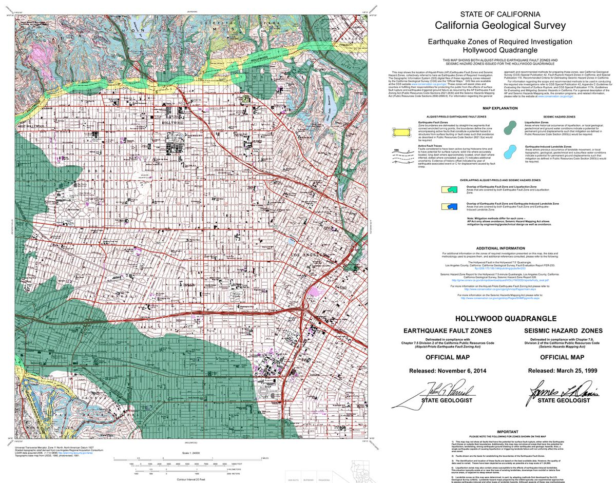 California Map Hollywood.Breaking Here Is The Map Of The Hollywood Fault To Terrify You