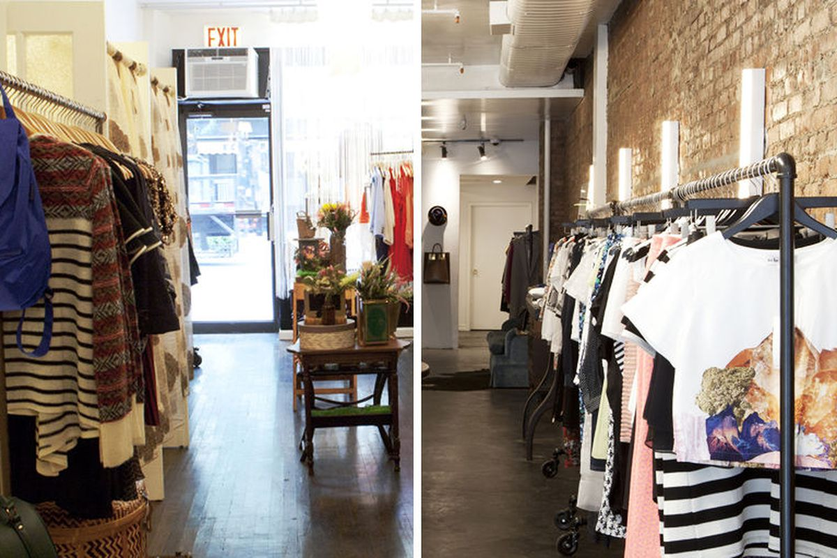 """Dalaga's old Soho store (left); Dagny + Barstow (right). Photos by <a href=""""http://williamchanphoto.com"""">William Chan</a>"""