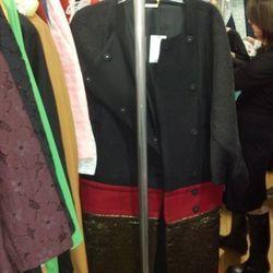 Colorblocked coat, $275
