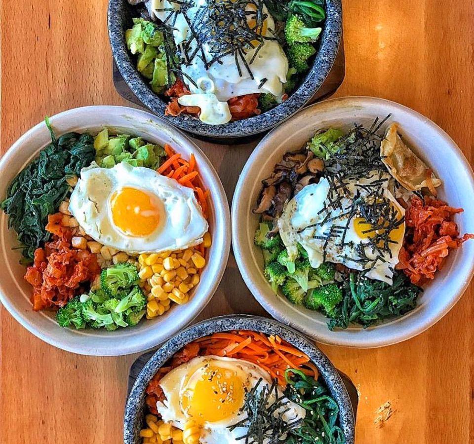 Build you own bowl inspiration at fast casul Korean concept Bibim Kitchen, the home of Bibimbap.