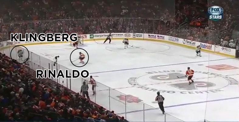 Rinaldo hit on Klingberg still 3