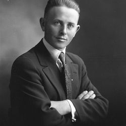 In the Savage Portrait collection of the 1920's there are over 20,000 images. This is John Okland of the Utah Construction family.