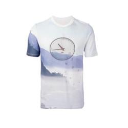 Blue piqué weave clock tee-shirt, $117 (was $195)