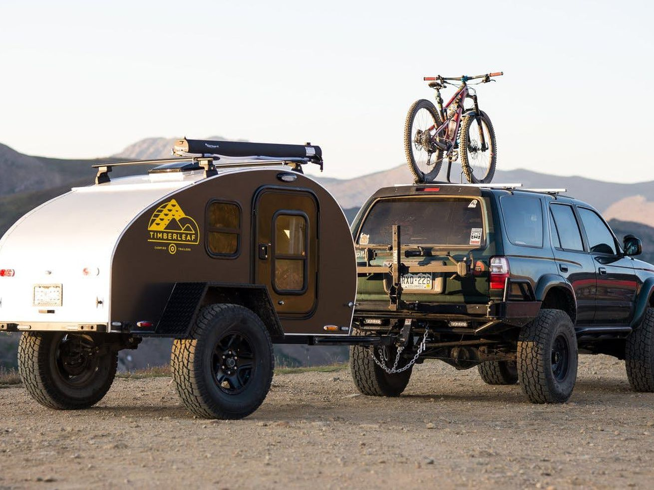 The Pika teardrop trailer from Timberleaf Trailers is a tiny take on a classic shape.
