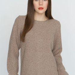 "<a href=""http://www.unitedbamboo.com/store/Yoked-Sweater-Blouse-Beige-FS.html"">Wool Yoke Sweater Blouse</a>, $237 (was $395)"