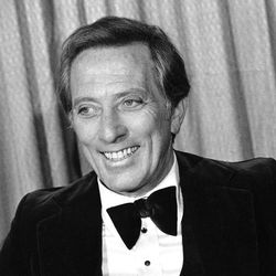 """FILE - This Feb. 23, 1978 file photo shows performer and host Andy Williams at the Grammy Awards in Los Angeles. Williams, who had a string of gold albums and hosted several variety shows and specials like """"The Andy Williams Show,"""" died Tuesday, Sept. 25, 2012, at his home in Branson, Missouri, following a yearlong battle with bladder cancer, his Los Angeles-based publicist, Paul Shefrin, said Wednesday. He was 84."""