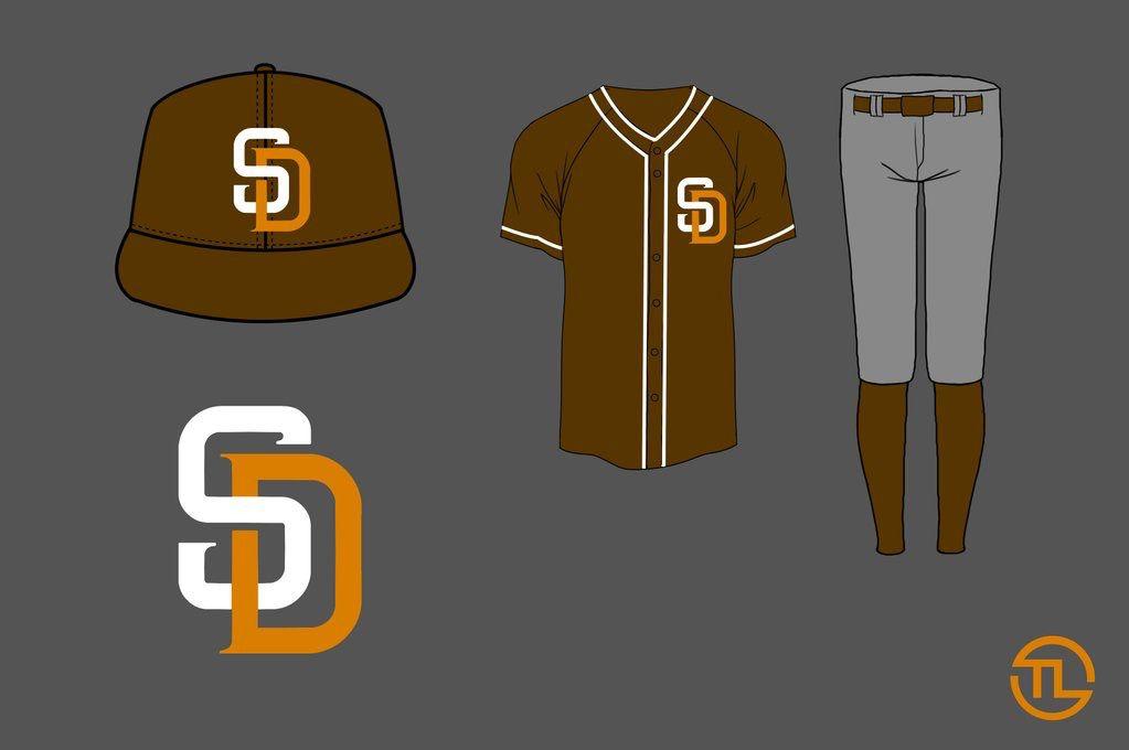 Padres away alternate redesign gray orange