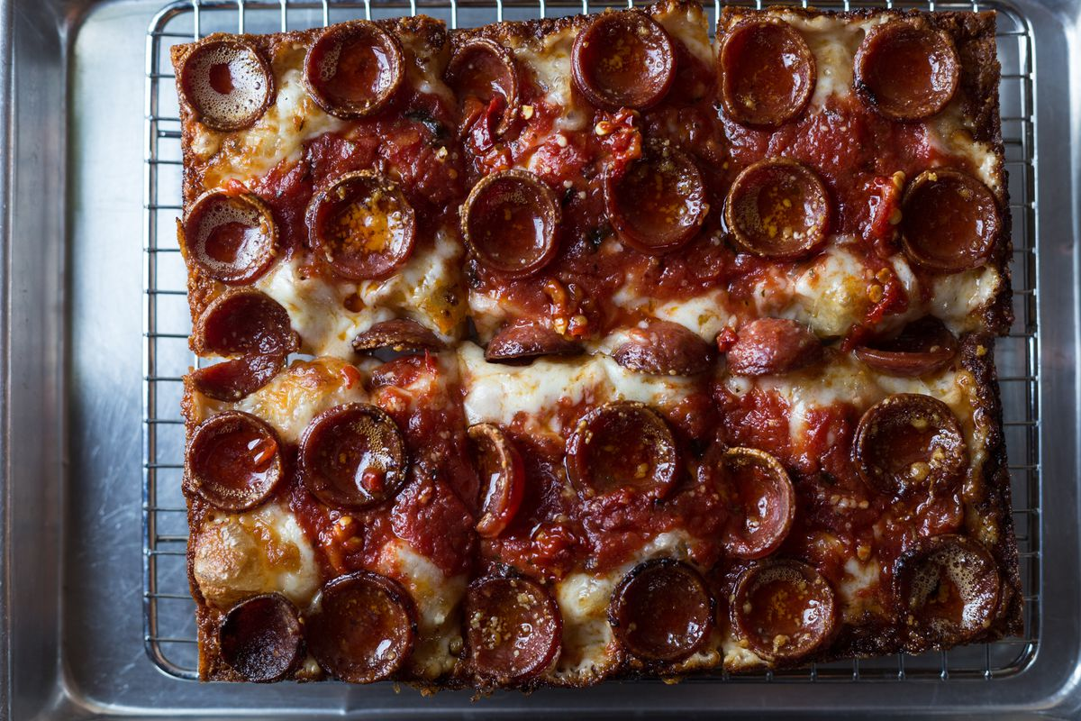 Pepperoni pizza at Emmy Squared