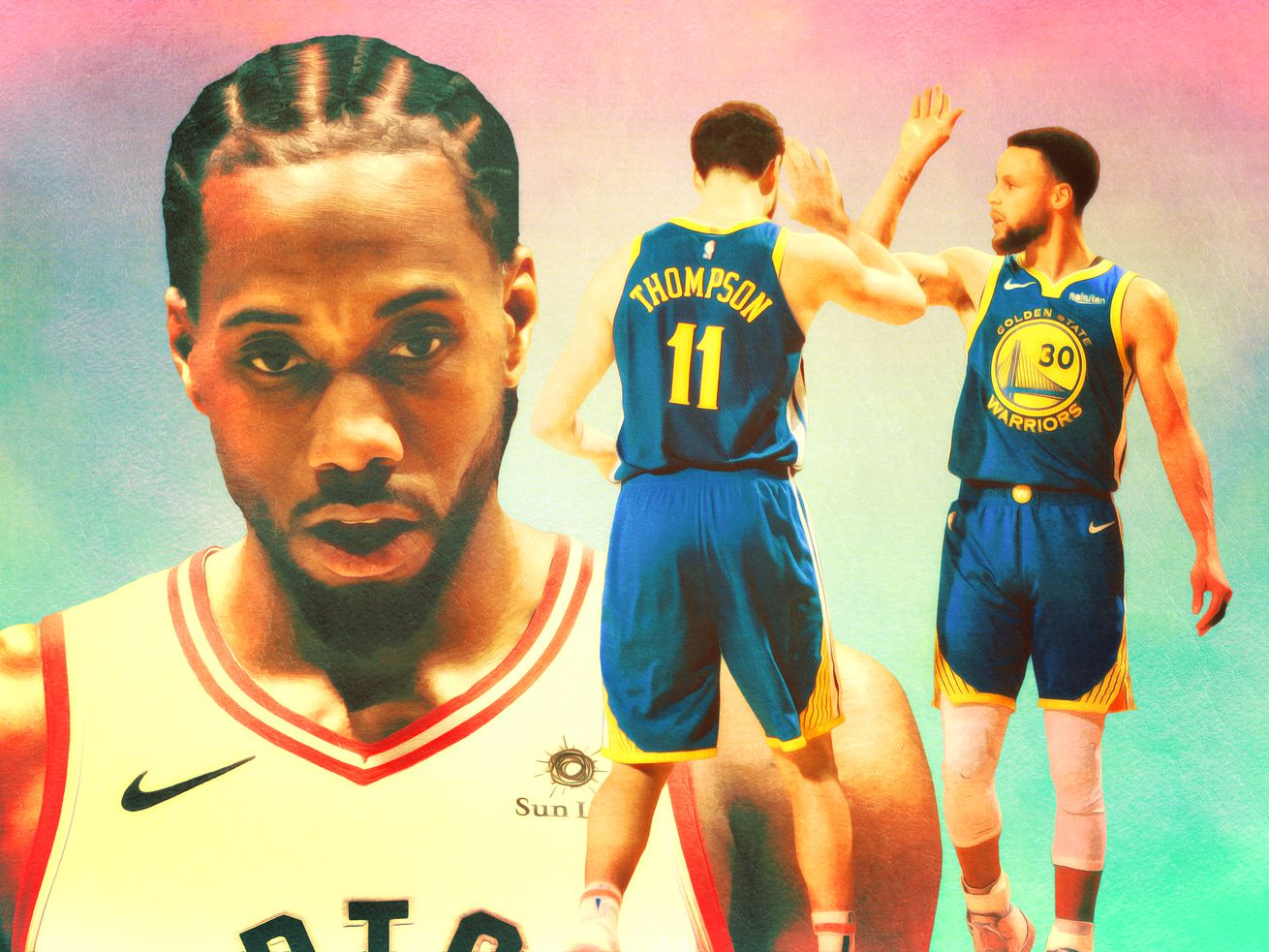 a8034236cdd The Golden State star left Game 5 in a walking boot with plenty of  questions trailing after him. Plus: Kawhi Leonard goes full Jordan in a  losing effort, ...