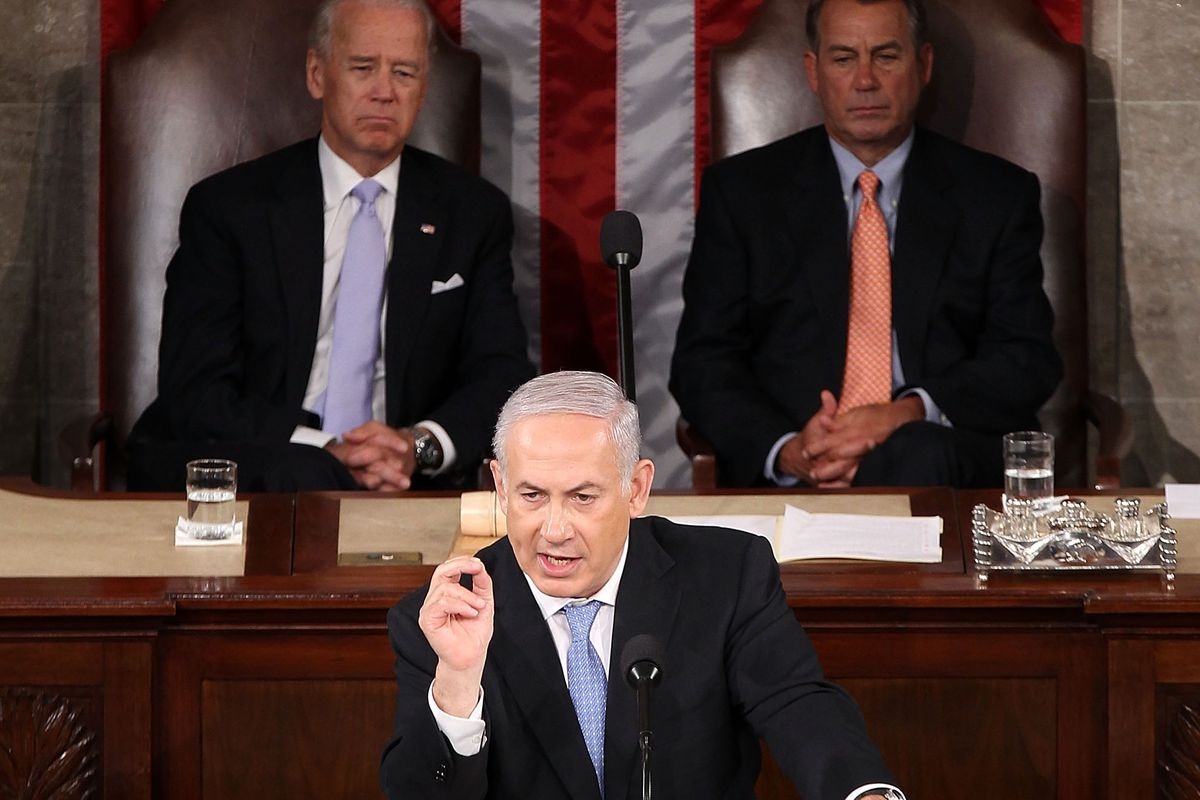 Israeli Prime Minister Benjamin Netanyahu lambasts Obama during his 2011 address to Congress