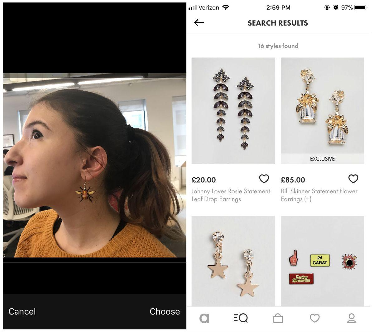 Asos image search bumblebee earrings