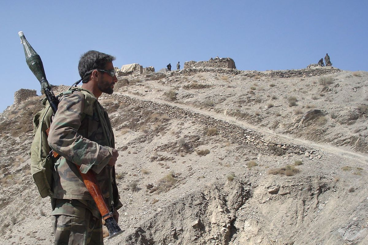 An Afghan soldier in Khost Province, south of Kabul.