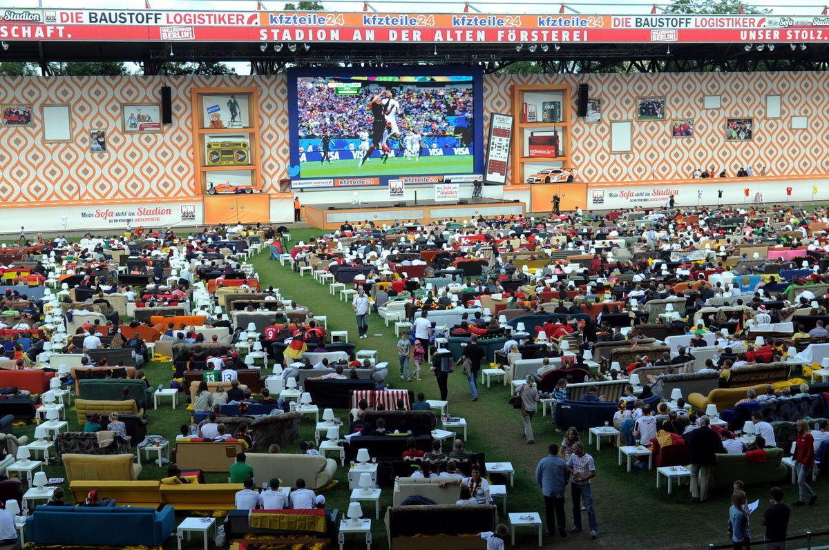 Public Viewing im Stadion von Union Berlin 2014