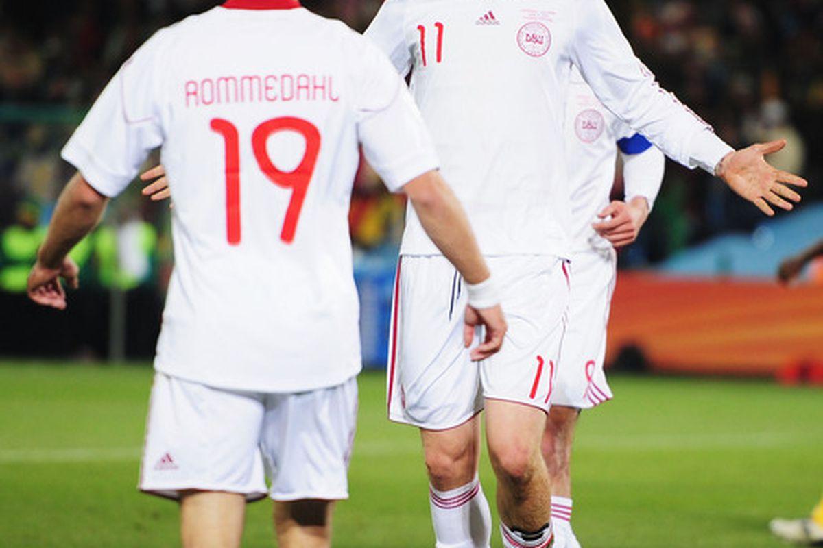 New boy Bendtner was in fine form for Denmark during the international break.